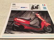 Fiche moto collection Atlas motocyclisme MBK 50 Evolis Yamaha Zest 1992