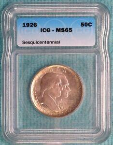 1926 MS-65 Sesquicentennial Commemorative Silver Half Dollar Sesqui