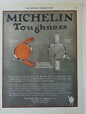 1919 Michelin tire company toughness ring shaped verse ordinary tube ad