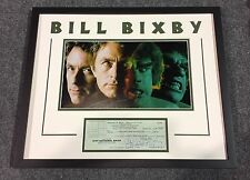 Bill Bixby Signed Check Auto Custom Framed Incredible Hulk
