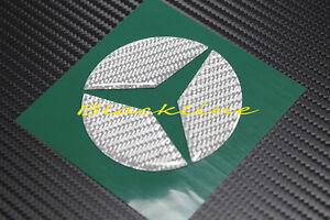 For 15+ Mercedes C Class W205 Gray Carbon Fiber Trunk Emblem Decal AMG C250 C400