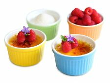 Uno Casa Creme Brulee Ramekins 5 oz Dishes Set of 4 Baking Cups - Suitable fo...