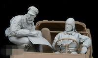 1/16 Resin Figure Model Kit GERMAN (2 FIGURES NO CAR) WWII Unassambled Unpainted