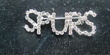 NBA SAN ANTONIO SPURS CRYSTALS PIN BROOCH   NEW