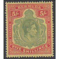 Bermuda Sg118 5s Green & Red/Yellow perf 14 (chalky) in fine m/mint condition