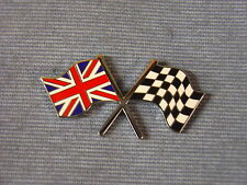NEW FORD ZEPHYR ZODIAC CROSS UNION JACK CHEQUERED FLAG ENAMEL DECAL BADGE