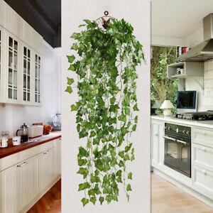 Artificial Hanging Plant Fake Vine Leaf Greenery Garland Wedding Home Decor UK