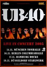 UB 40 - 2005-tourplakat-Live in Concert-Tourposter