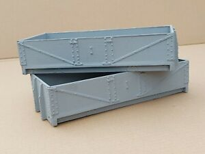 """Miniature Railway Wagon bodies. Gauge 3 (2 1/2""""). 10ft WB. 5 plank. 2 available"""