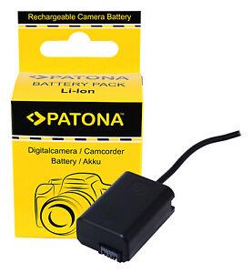 NP-FW50 Dummy Batterie Coupler D-TAP Input Akku-Adapter für Sony NP-FW50 Patona