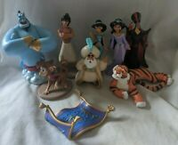 Disney Store Aladdin PVC Figure Lot - Aladdin Jasmine Genie Jafar Abu