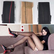 Femmes Sexy Pur Transparent évasé Bas Couture Autofixant Collants grande qualité