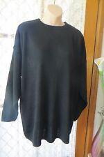 VINTAGE 80'S ~ SPORTSCUTTER ~ Black Tunic  JUMPER ~ Size M-L ~ REDUCED !!