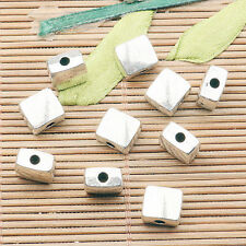 30pcs tibetan silver color square-shaped  spacer bead  H0057