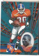 Terrell Davis 1997 Pacific Platinum Blue Original NFL Vintage Card RARE # I-41