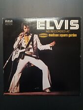 Elvis as Recorded at Madison Square Garden 1972 LP RCA Victor 1st Press Live VG+