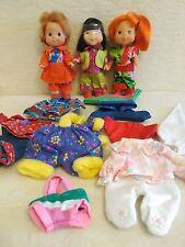 Lote de 3 mini muñecas de Feber de los 80-90