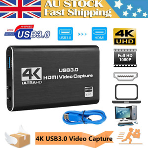 HDMI Video Capture Card USB 3.0 / 4K Recorder for Video Live Streaming / Game