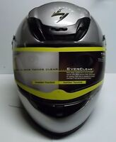 Scorpion Exo 400 Light Silver Vented Full Face Motorcycle Helmet w/ Clear Shield
