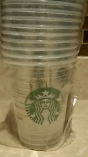 40 Starbucks TALL disposable clear cold cups Mermaid logo 12 oz party plastic