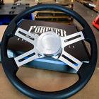 4 Spoke Steering Wheel 18 Black Polyurethane Kenworth Peterbilt Hub Included