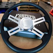 "4 Spoke Steering Wheel 18"" Black Polyurethane Kenworth Peterbilt Hub Included"