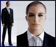 Male mannequins display mature men suit, formal looking manequin manikin -Mark