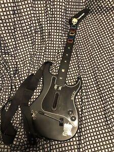 Guitar Hero Kramer Striker Red Octane Black Wireless Guitar PS2  *NO DONGLE*