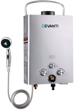 Devanti Gas Hot Water Heater Portable Shower Camping LPG Outdoor Instant 4WD HLD