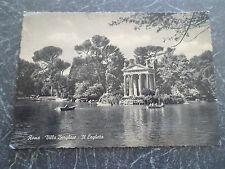 Vintage Postcard ~ Villa Borghese Little Lake ~ ROME ~ ITALY Postally unused