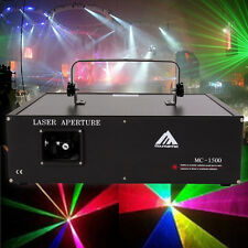 1500mW RBG animation Laser Light Stage Projector DMX Projecteur Lumière laser be