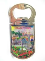 Frankfurt Römer Skyline Metall Flaschenöffner Magnet 9,5 cm Souvenir Germany