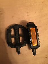 """Vintage NOS Black Union 9/16"""" BMX/ MTB Pedals In The Plastic-*Trusted Seller *"""