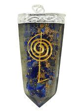Sword Lapis Lazuli Orgonite Pendant Reiki Symbol Gemstones Spiritual Orgone 9202