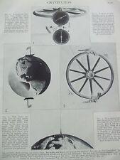 ANTIQUE PRINT 1926 GRAVITIATION SCIENCE PHOTO PRINT SCIENTIFIC VELOCITY OF LIGHT