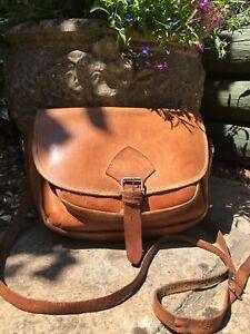 Vintage Tan Saddle Bag