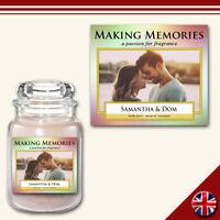 C17 Personalised Medium Custom Photo Candle Label Sticker Rainbow Memorable Gift