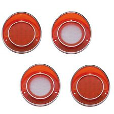 68-69-70-71-72-73 Corvette Red LED Rear Tail Light Back Up Lamp Lens Trim Set