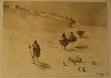 """In the La Mancha Desert, Spain"" Photo Etching by Ripley O. Anthony 1889 AWESOME"