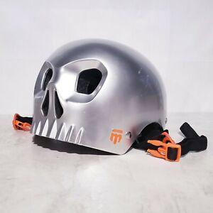 Mongoose Chrome Skull Hardshell Street Youth Helmet Size 55-57 CM
