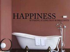 Happiness Bathroom Wall Sticker Art Room Décor Toilet BAT51