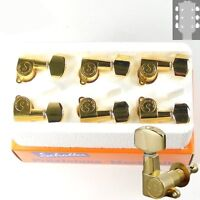Schaller M6 L135 Mini Buttons tuners/machine heads, 3x3 Gold 10040523