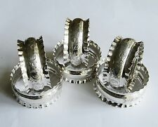 Sterling Silver Napkin Rings Set 6 Chester England 1909 J&R Griffin