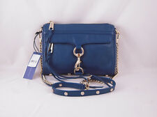 Rebecca Minkoff Mini Mac Clutch in Navy with Gold Hardware NWT