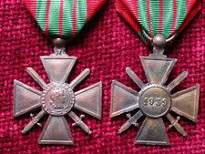 Replica Copy WW2 French Croix de Guerre Full size aged