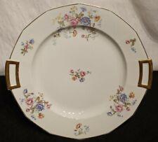 """Antique GDA France CH Field Haviland Limoges 13"""" Cake Plate Platter Rose Spray"""