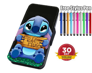 Lilo And Stitch Free Hugs Disney Flip Phone Case Cover for iPhone Samsung Huawei