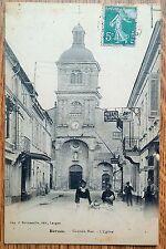 Barsac grande rue l'eglise 1909