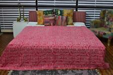 Indian Cotton New Ikat Print Vintage Kantha Quilt Bed Cover Throw Ethnic Blanket