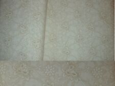1 1/3 Yards Cream and Tan Floral Backing